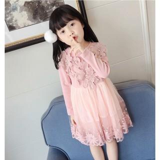VK2 _ Váy Đầm Bé Gái Dài Tay Công Chúa, váy công chúa