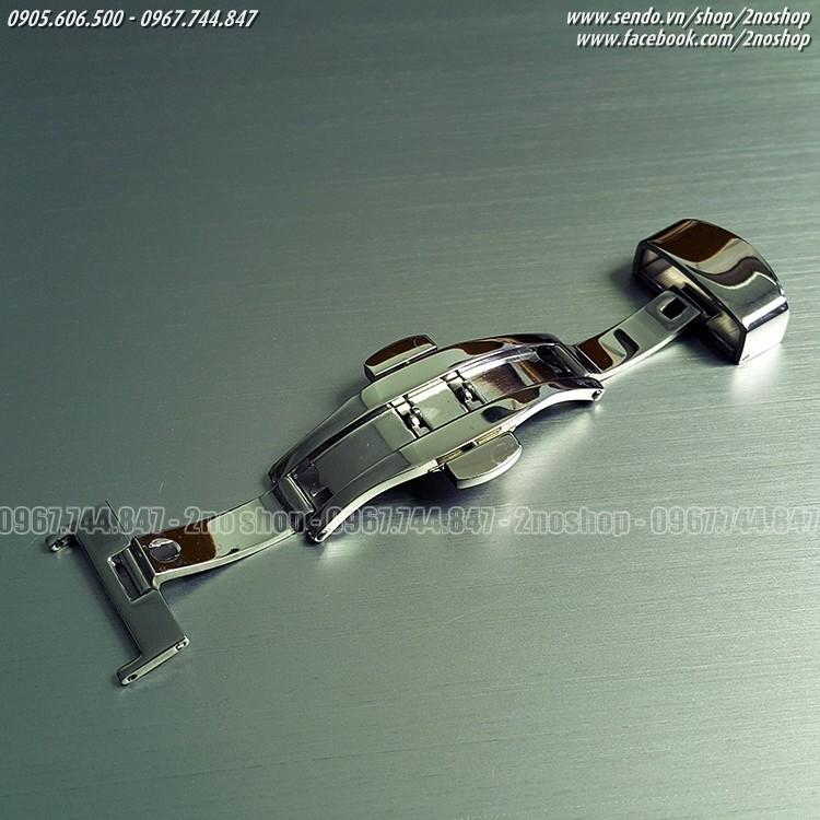 Khóa bướm hai nút bấm inox không gỉ 16mm,18mm,20mm,22mm - Mã số: K1601