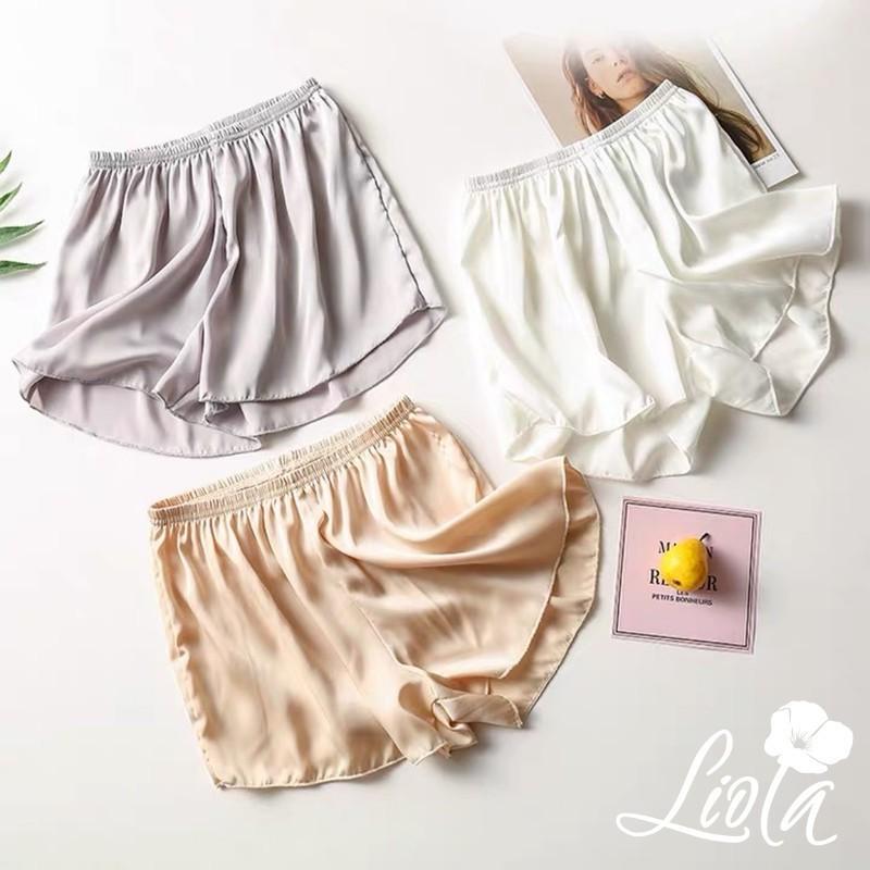 Quần sooc đùi lụa satin mềm mát cao cấp - quần short mặc trong váy mềm mại thiết kế by LIOLA QL