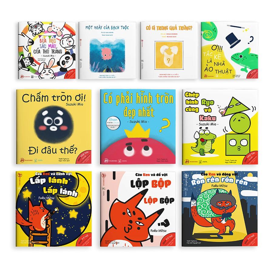 [Mã LT50 giảm 50k đơn 250k] Sách Ehon - Combo 10 cuốn Màu sắc, Âm thanh, Hình khối - Ehon Nhật Bản cho bé 0-6