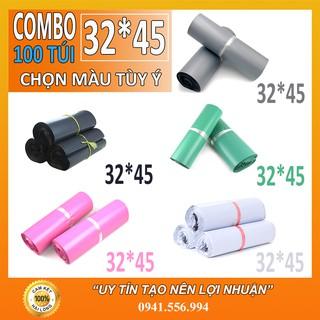 Tuigoihang 100 Túi Đóng Hàng, Túi Niêm Phong Tự Dính Cao Cấp 32×45 cm