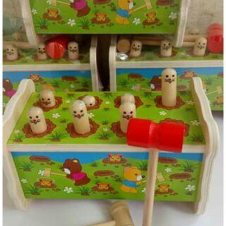Đập chuột gỗ vui nhộn thông minh cho bé