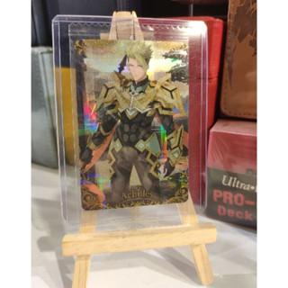 Thẻ bài sưu tầm bánh xốp Fate Grand Order FGO Achilles SR – Secret Rare – Tặng bọc bài nhựa bảo quản