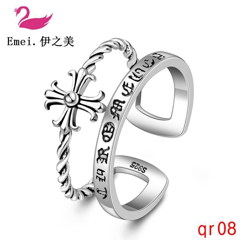 ง่ายแหวนเงินไทยสร้างสรรค์แหวนแนวโน้มย้อนยุคที่จะส่งแหวนแฟนของเขา