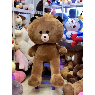 (Ảnh Thật 100%)-Gấu Bông BROWN 1m4 Khổ Vải Cao 1m2 HÀNG CHUẨN LOẠI 1