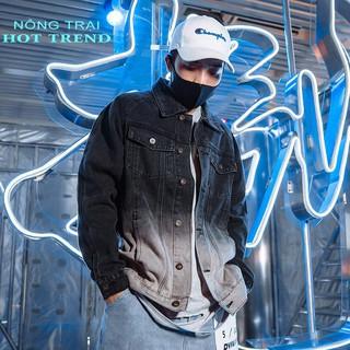 Áo khoác jean nam phong cách hoang dã 2 màu đen trắng mẫu mới 2020