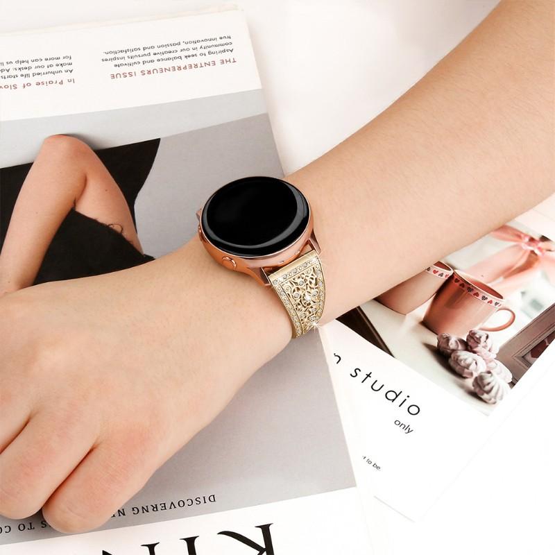 Dây Đeo Inox Đính Đá Cho Đồng Hồ Thông Minh Galaxy Watch 42 / 46mm