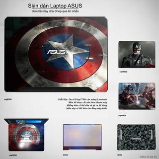 Skin dán Laptop Asus in hình Captain (inbox mã máy cho Shop) thumbnail