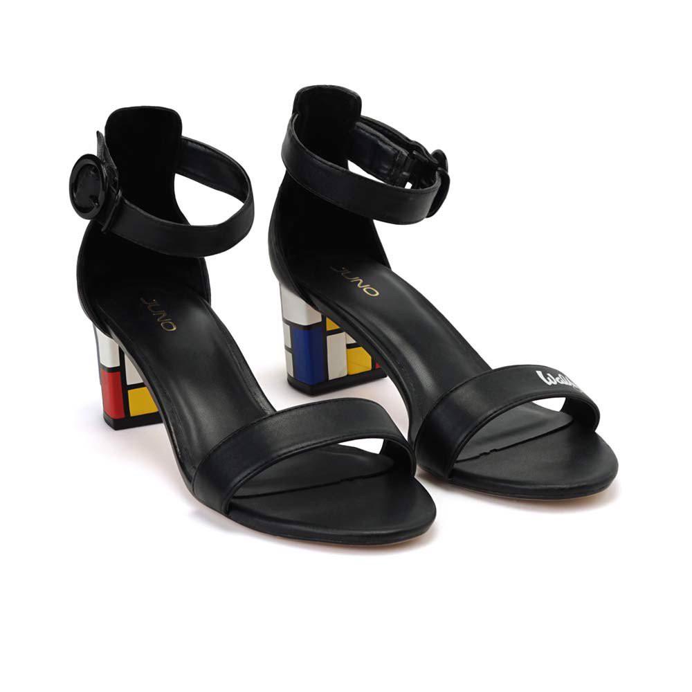 Juno - Giày sandal hoạ tiết Mondrian SD