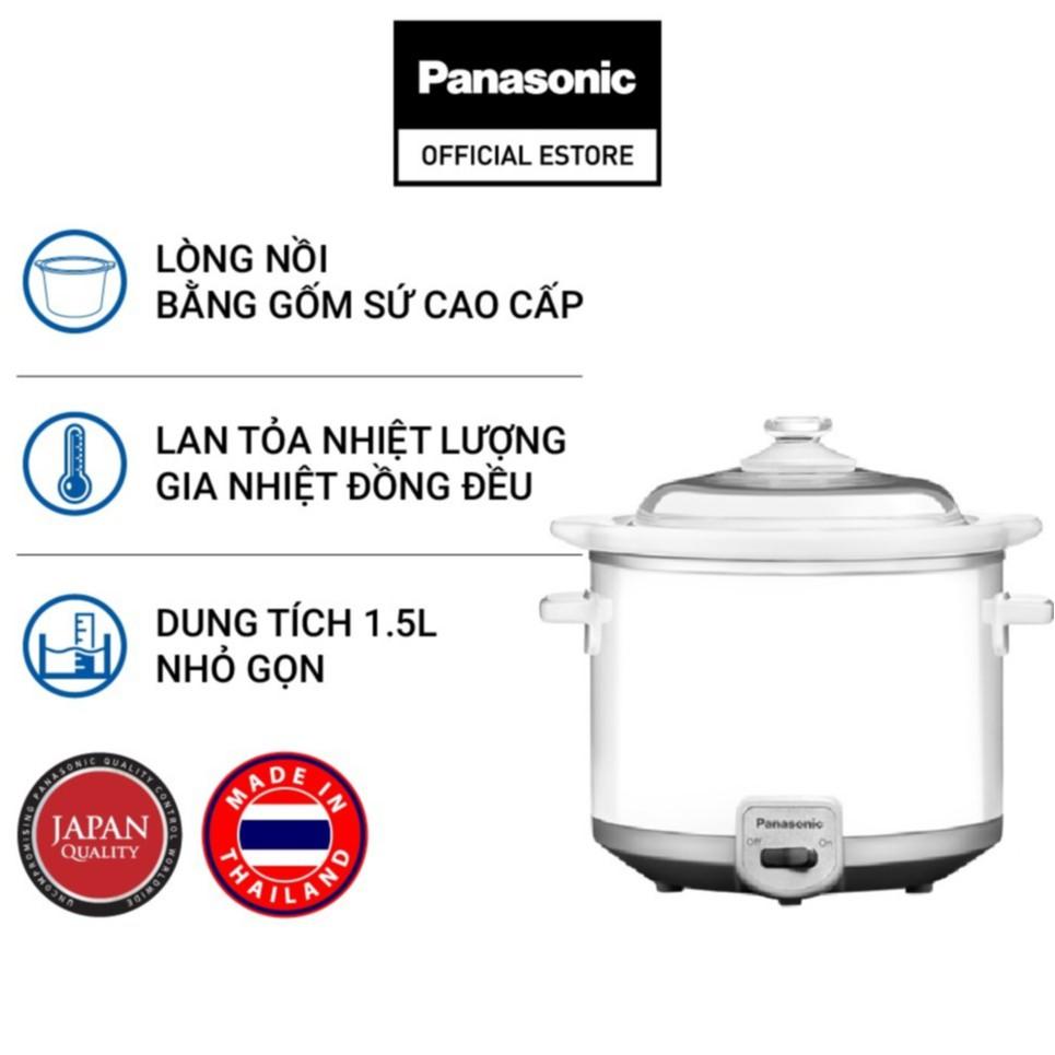 Nồi nấu chậm Panasonic NF-N15SRA (1.5 Lít) - Hàng chính hãng - Bảo hành 12 tháng
