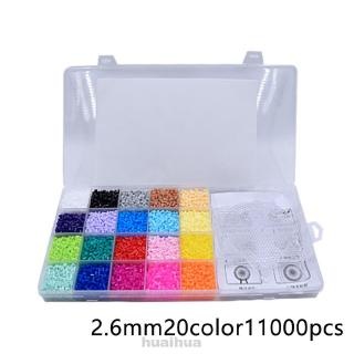 Set 11000 Hạt Nhựa 2.6mm 20 Màu Làm Trang Sức