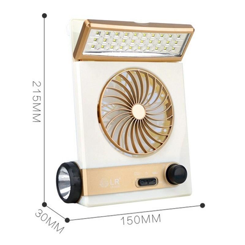 quạt máy tích điện sạc năng lượng mặt trời có đèn led
