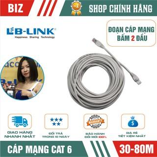 [Mã ELFLASH5 giảm 20K đơn 50K] Đoạn dây cáp mạng Cat6 bấm 2 đầu LB-LINK 30/40/60/80m (Trắng) - Chính hãng