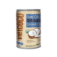 Bộ 2 Nước cốt dừa hữu cơ organic Vietcoco 400ml