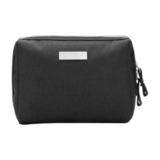 Waterproof Portable Travel Makeup Storage Bag Organizer Container Toiletries Handbag (Black)