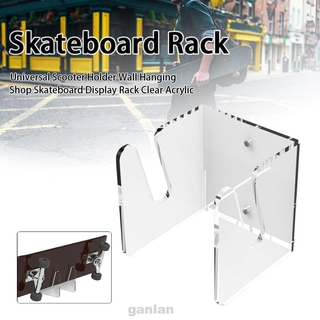 Bedroom Universal Durable Space Saving Home Organizer Easy Install Clear Acrylic Skateboard Display Rack