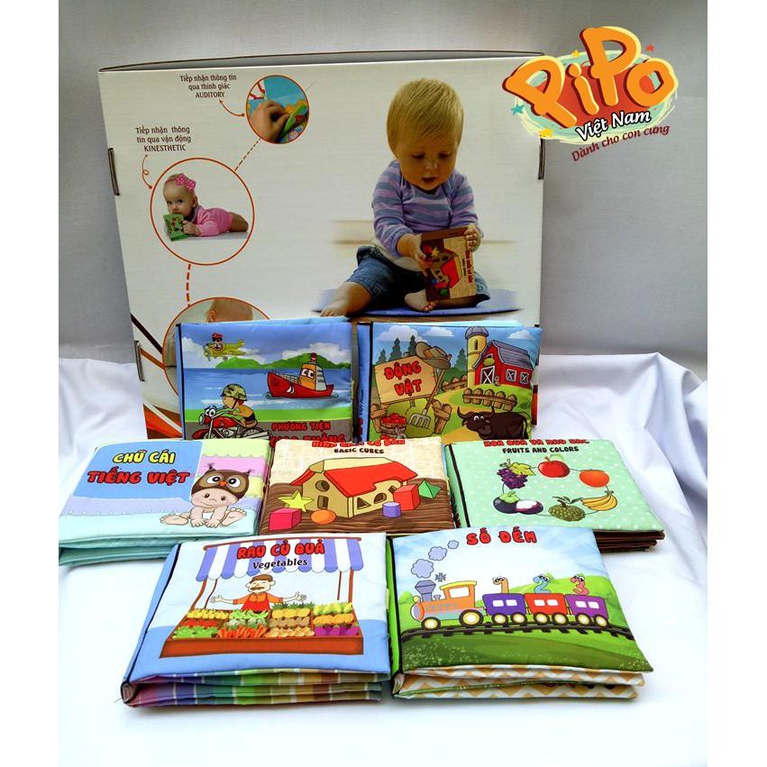 Combo 10 cuốn sách vải Pipo (theo yêu cầu khách hàng).