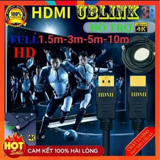 [HDMI Hãng]Dây HDMI UBLINK XỊN 1.5m 3m 5m 10m lõi đồng HDTV 4K 2K (19+1) - Dây HDMI To HDMI tròn chuẩn FULL HD 1080p thumbnail