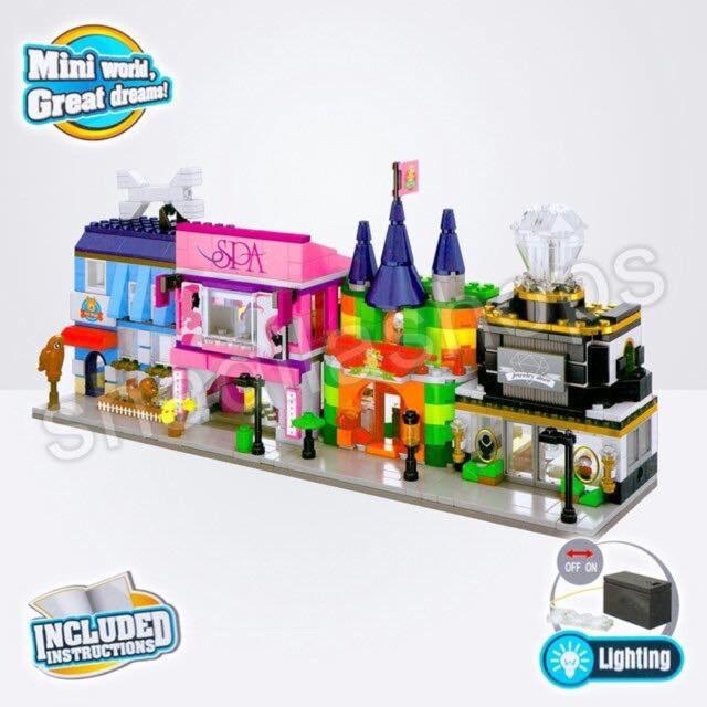 Lego sembo block SD650- Xây dựng các cửa hàng