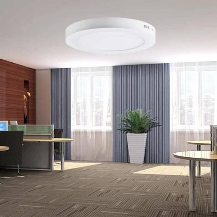 Đèn ốp trần nổi 24W - ánh sáng trắng bảo 2 năm(viền siêu mỏng cao cấp - vỏ nhôm mặt kính sang trọng - đường kính 28cm)