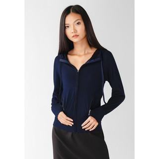 Áo khoác nữ slim 4 túi dây kéo Phúc An 4044 màu xanh đen
