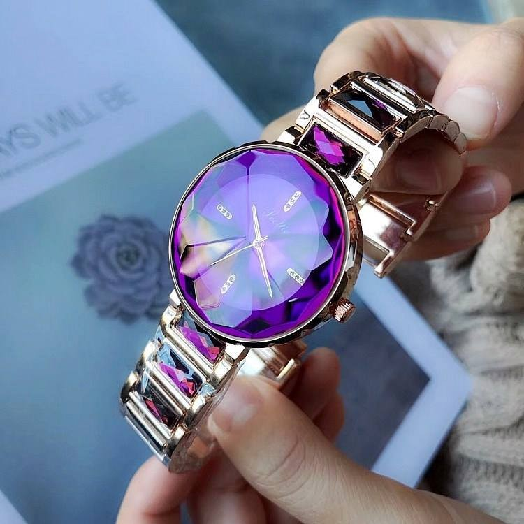 Đồng hồ nữ Scottie chống nước mặt kim cương 34mm cao cấp