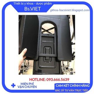 Xe lăn có bô vuông Lucass X8 - Xe lăn có bô vệ sinh cho người già, bệnh nhân, người khuyết tật, chỗ ngồi rộng,độ bên cao thumbnail