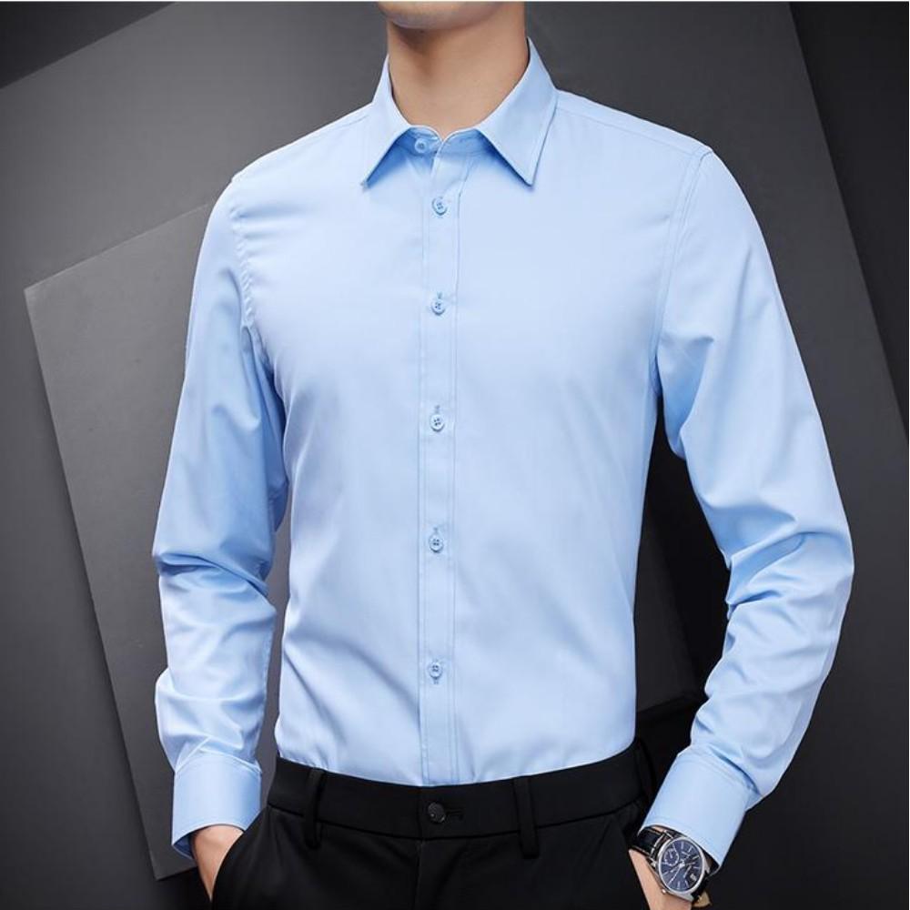 Áo sơ mi nam dài tay kiểu dáng Hàn Quốc , vải lụa thái mềm mịn , chống nhăn cao cấp.(CAM KẾT ẢNH THẬT)