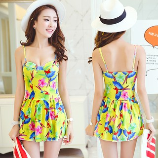 High-end one-piece swimsuit women's Korean ins thin and conservative skirt holiday hot spring swimsuit factory clearance