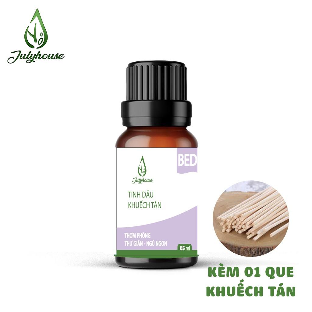 Bộ Khuếch tán hương thơm dành cho phòng Ngủ thư giãn khử mùi giúp ngủ ngon từ tinh dầu thiên nhiên 5ml JULYHOUSE