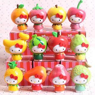 Taiwan 7-11kt Kitty Doll Hello Hellokitty fruit Furnishings 12 Birthday gift Sce