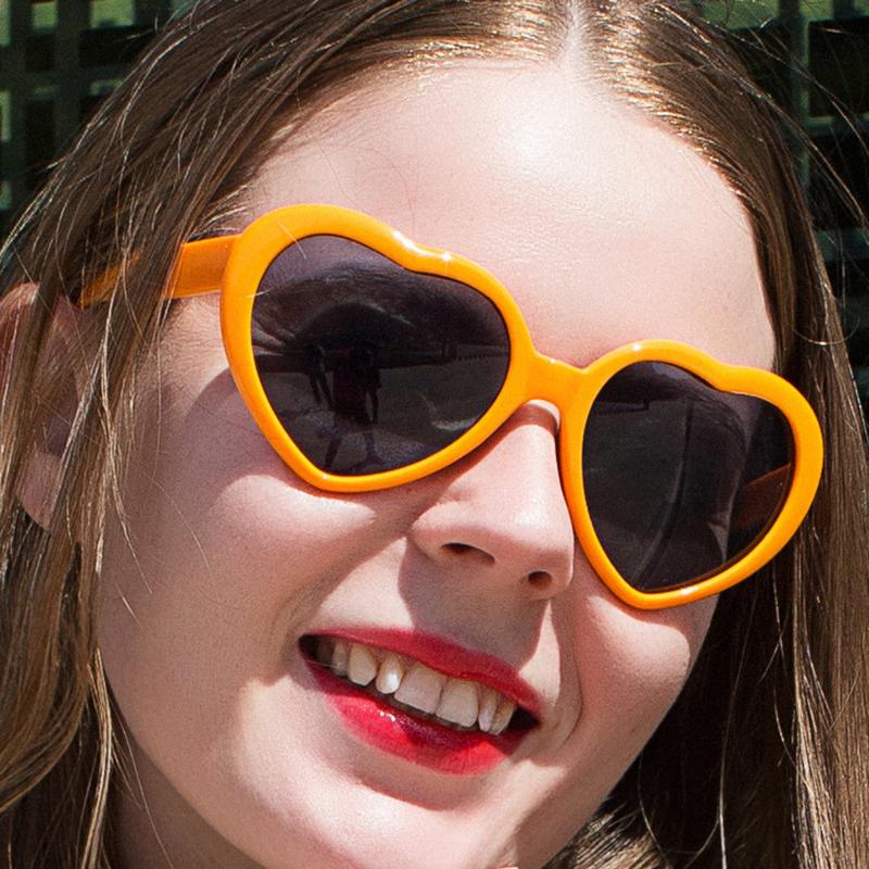 Kính Mát Hình Trái Tim Phong Cách Lolita 100% Uv400