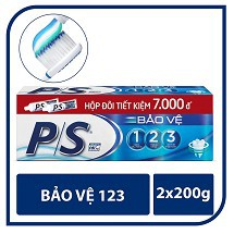 Bộ Đôi Kem Đánh Răng P/S Bảo Vệ 123 2x200g MSP 67076087
