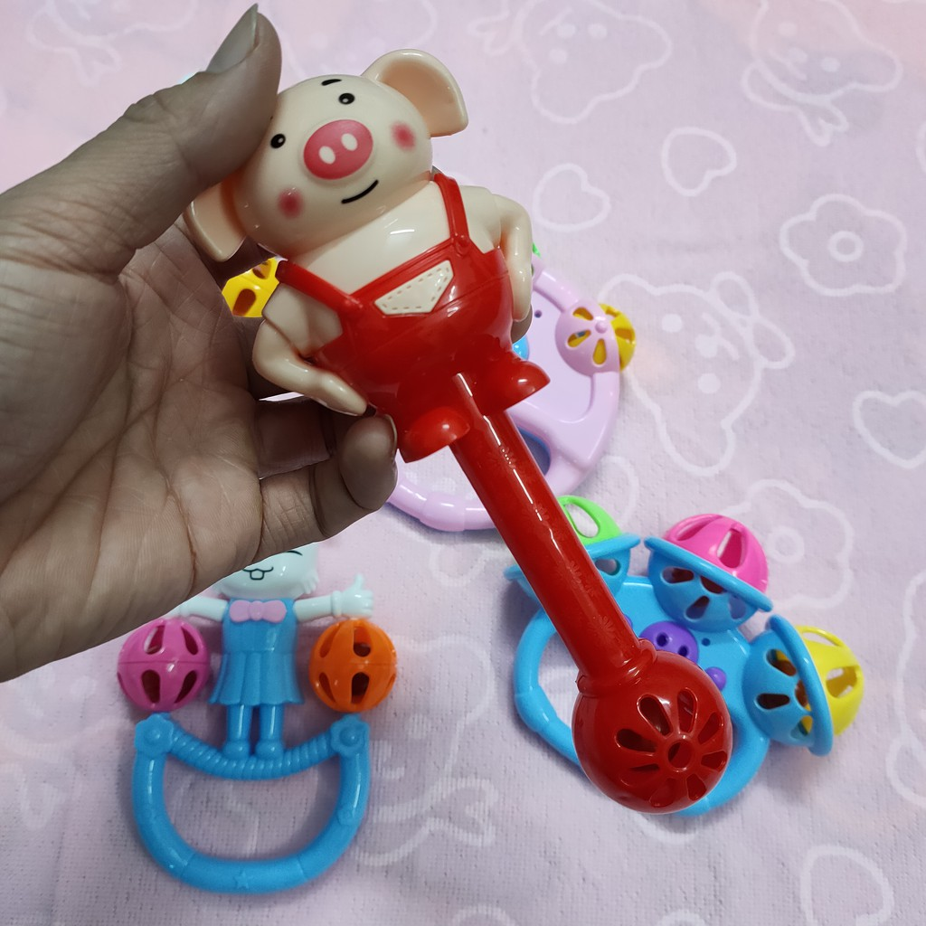 Đồ chơi cho bé trai gái trẻ sơ sinh xúc xắc 5 chi tiết an toàn không độc  hại chính hãng 55,000đ