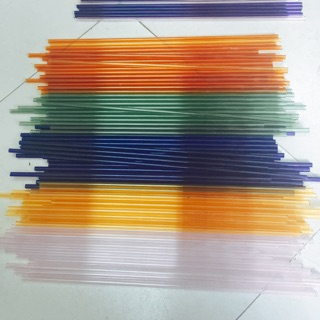 Combo 10 ống Thuỷ Tinh màu Đức cắt sẵn 20cm