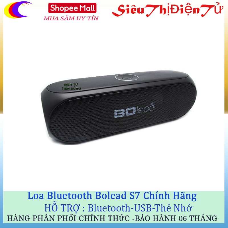 Loa bluetooth Bolead S7 tích hợp USB Thẻ nhớ hàng chất lượng