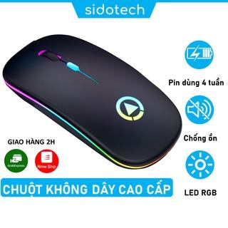 Chuột không dây máy tính bluetooth sạc pin SIDOTECH YINDIAO M2S không tiếng ồn slient tắt âm pin sạc 1 lần dùng 4 tuần thumbnail