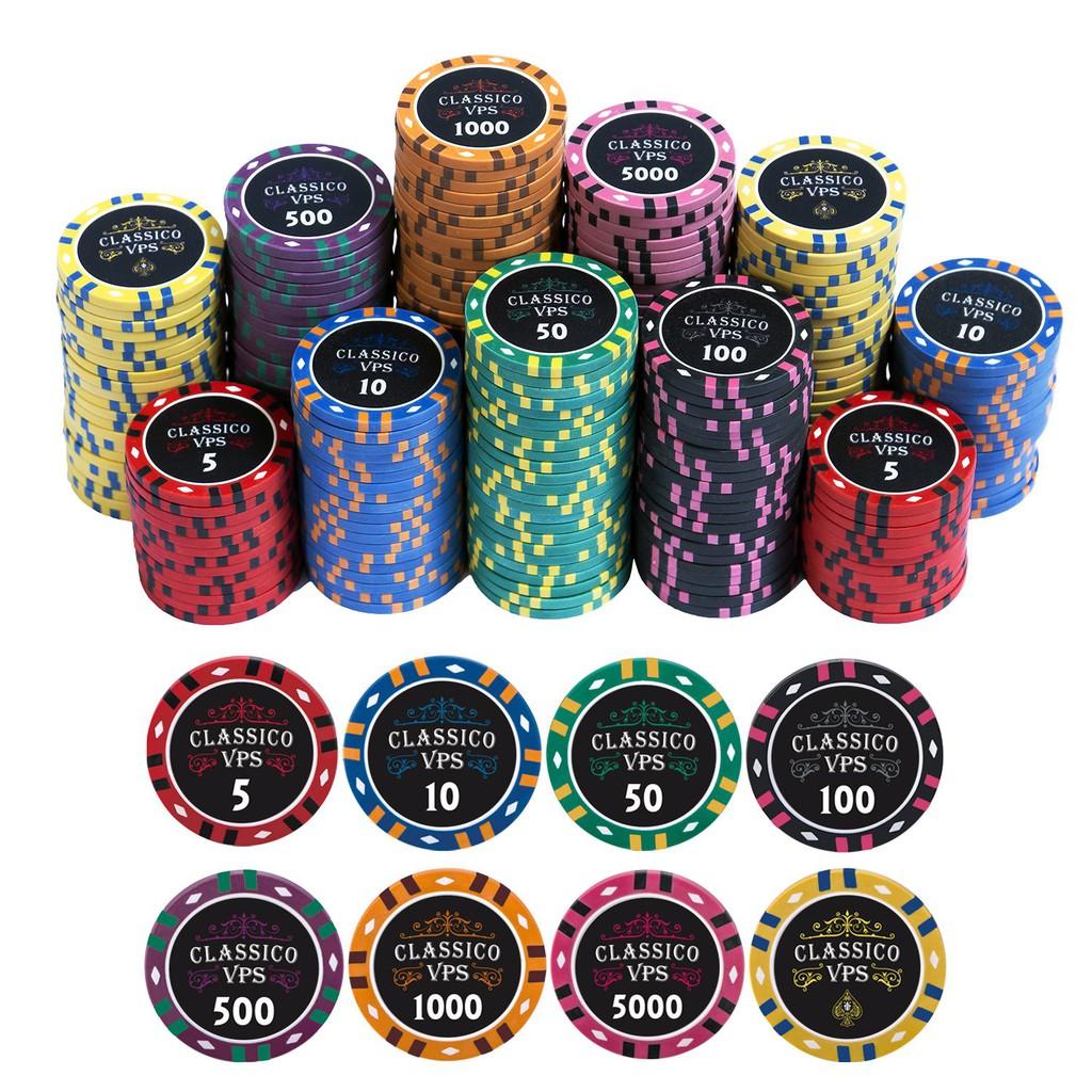 [Chip lẻ] Viet Poker Shop Classico chip – Poker chip set – Phỉnh Poker