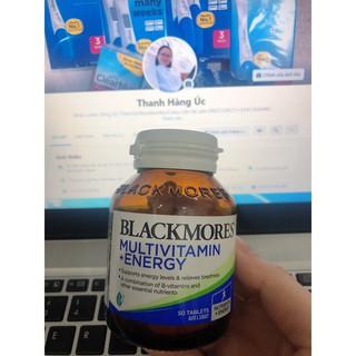 Viên uống bổ sung vitamin và năng lượng giảm căng thẳng Blackmores Multivitamim+Energy 50 viên