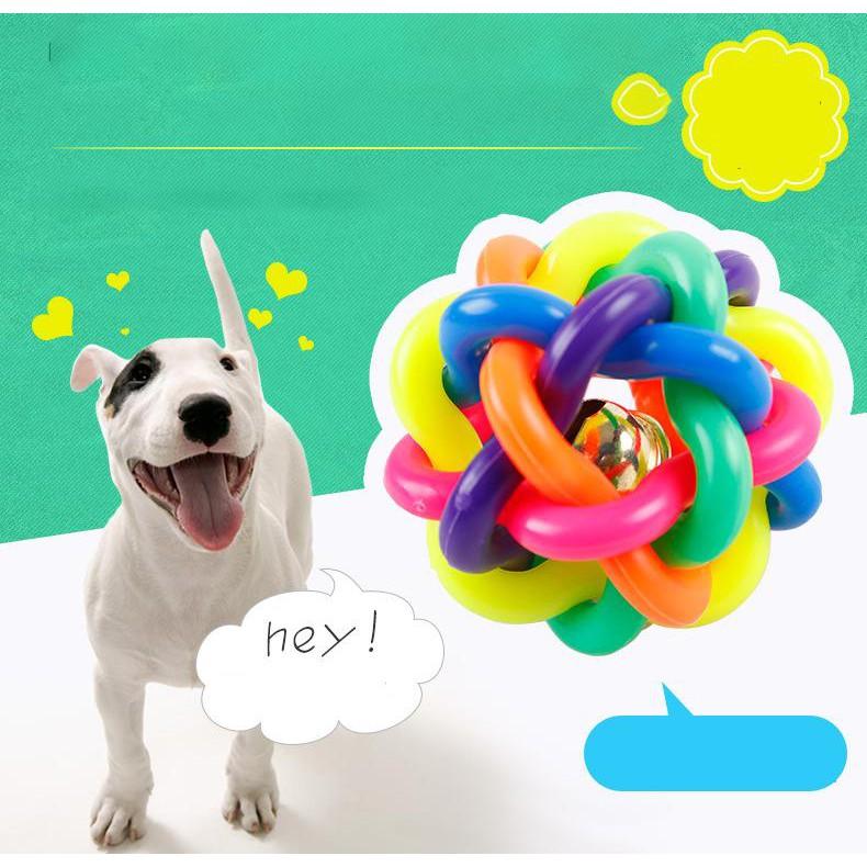Đồ chơi cuộn dây nhiều màu cho chó mèo MON AMI TOY VINYL size 5cm