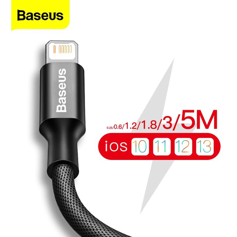 Dây cáp sạc / truyền dữ liệu Baseus USB dành cho IPhone 11 pro Max XS Max XR X 8 7 6 6S 5S
