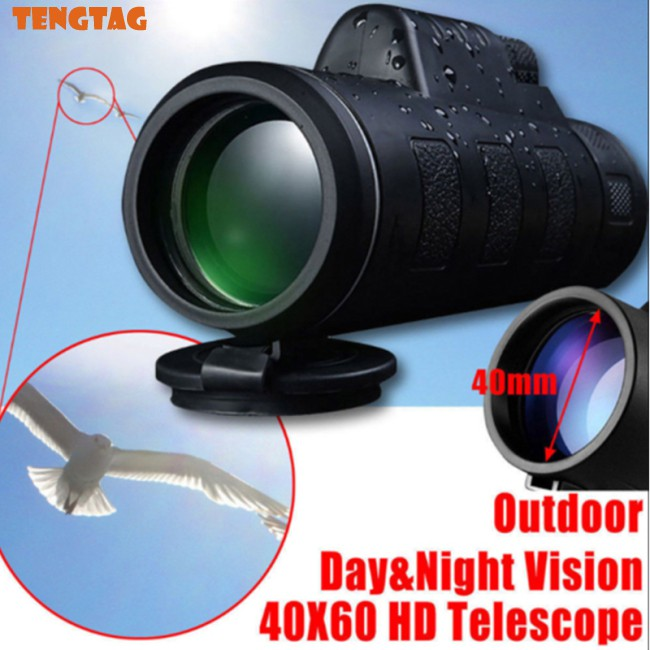 High Power 40X60 HD Monocular Telescope Shimmer Night Vision for Outdoor Hiking
