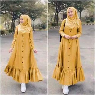 Đầm Maxi In Hoa Mẫu Đơn Xinh Xắn Cho Nữ || Đầm Thiết Kế Hiện Đại Thanh Lịch Cho Nữ || Mô Hình gamis Của Phụ Nữ Hồi Giáo