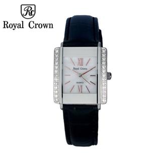 Đồng hồ nữ chính hãng Royal Crown 3645L dây da đen thumbnail