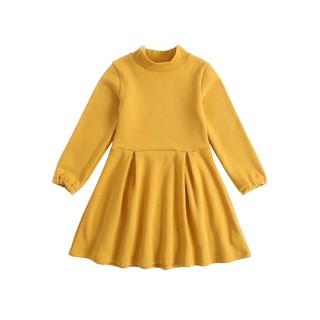 Đầm công chúa Sanlutoz màu vàng bằng cotton cho bé gái