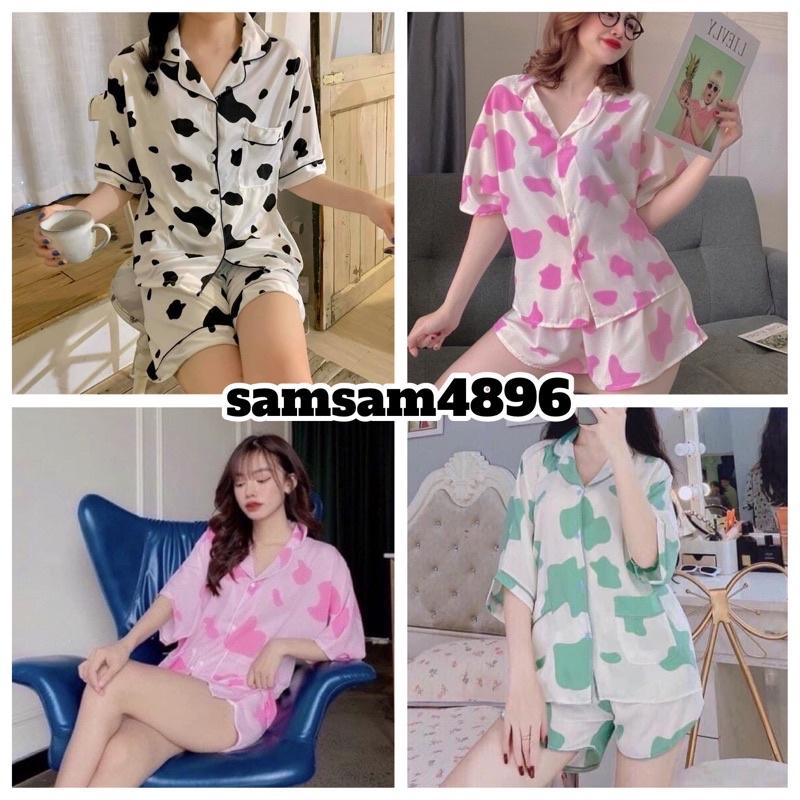 Bộ Pijama Ngắn Tay - Bộ Ngủ Bò Sữa Ulzzang Cute Hot Trend 2021