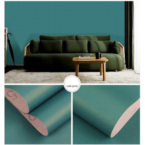 Cuộn 5m giấy dán tường trơn màu Neon đẹp mắt khổ 60cm tự dính tiện dụng