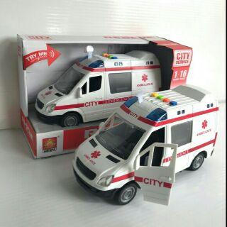 Xe cấp cứu có đèn nhạc tỷ lệ 1:16