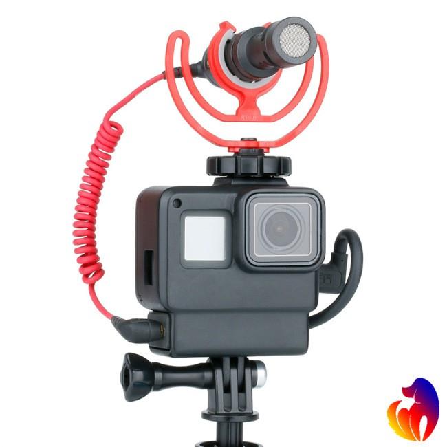Vỏ bảo vệ camera Gopro Hero 5 6 7 hỗ trợ gắn thêm thiết bị phụ kiện Ulanzi V2