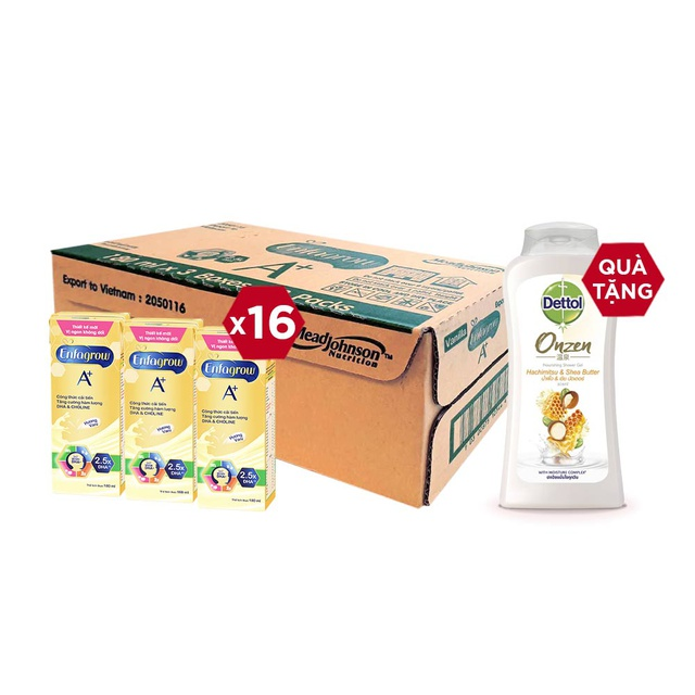 Combo 2 Thùng 24 Hộp Sữa Bột Pha Sẵn Enfagrow A+ Hương Vị Vanilla 180ml/hộp